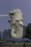 Merlion in Singapur lizenzfreie stockbilder
