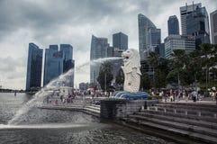 Merlion in Singapur Stockbilder