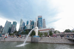 Merlion in Singapur Stockbilder