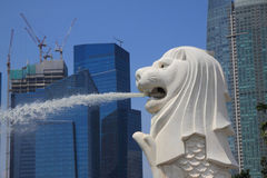 Merlion spray Royalty Free Stock Images
