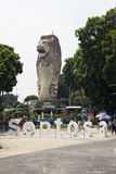Merlion statua na parku tematycznym Sentosa Obrazy Royalty Free