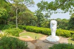 Merlion statua w parku obrazy royalty free