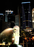 The Merlion statue Stock Photo