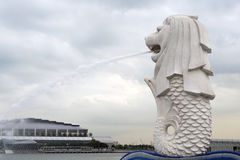 Merlion statue Stock Image