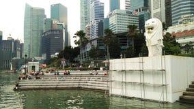 Merlion statue, landmark of Singapore Royalty Free Stock Photo