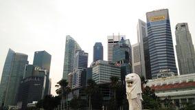 Merlion statue, landmark of Singapore Royalty Free Stock Photography