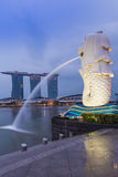 Merlion statue, landmarks of Singapore Royalty Free Stock Photo