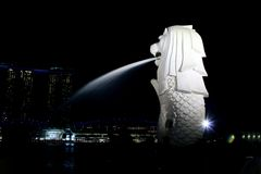 Merlion Statue Royalty Free Stock Photo
