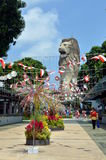 Merlion statue on Sentosa Island, Singapore Royalty Free Stock Photos