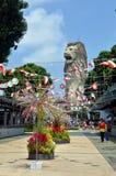 Merlion statue on Sentosa Island, Singapore Royalty Free Stock Photos