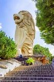 Merlion Statue on Sentosa Island in Singapore Royalty Free Stock Photo