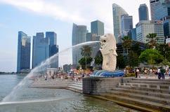 The Merlion statue, Singapore Stock Image