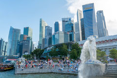 Merlion statue in Singapore Royalty Free Stock Photos