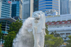 Merlion statue in Singapore Royalty Free Stock Image