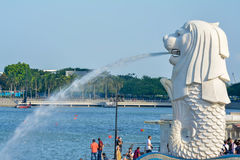 Merlion statue in Singapore Stock Photography