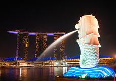 Merlion statue, Singapore Royalty Free Stock Images