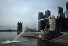 Merlion Statue in Singapore Stock Photo