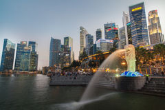 Merlion Sunset Stock Images
