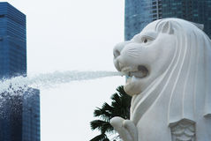 Merlion, the symbol of Singapore Royalty Free Stock Photos