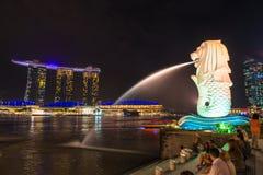 Merlion, une mascotte de Singapour Image libre de droits