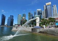 merlionpark singapore Royaltyfri Fotografi