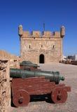 Merlo della fortificazione del Marocco Essaouira Immagini Stock Libere da Diritti