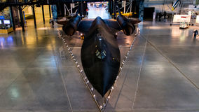 Merlo dello SR 71 all'aria nazionale ed al museo di spazio Fotografie Stock
