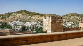 Merlon and wall in Granada Stock Photos