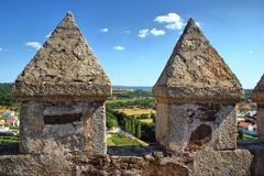 Merlons and battlements Royalty Free Stock Photography