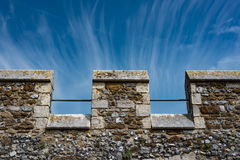 Merlons de um castelo medieval Foto de Stock