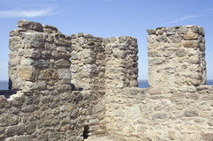 Merlons of an old fortress tower Royalty Free Stock Photography