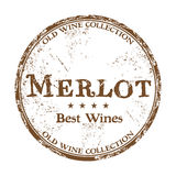 Merlot grunge rubber stamp Stock Photos