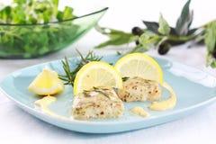 Merluches cuites au four Image libre de droits