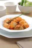 Merluzzo con riso e le verdure fotografia stock