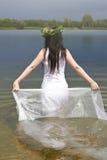Mermaid в воде Стоковые Изображения RF