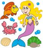 mermaid собрания Стоковое Изображение