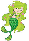 Mermaid. An illustration of a sea mermaid Stock Images