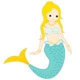 Mermaid. Vector illustration / clipart of a cute little mermaid isolated on white background Royalty Free Stock Image