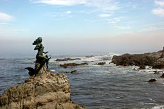 Mermaid 2. Mermaid statue off coast of Mazatlan Stock Image