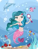 Mermaid. Vector illustration of a cute mermaid Royalty Free Stock Images