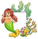 mermaid Royaltyfria Foton
