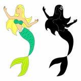 mermaid Foto de Stock Royalty Free