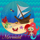mermaid Royaltyfri Bild