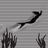 mermaid royalty-vrije illustratie