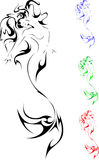Mermaid. Vector illustration of mermaid Tattoo style Royalty Free Stock Photo