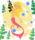 Mermaid. Vector illustration of a mermaid Stock Photography