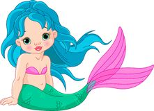 Mermaid baby Girl Stock Photography