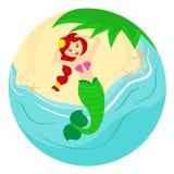 Mermaid at the beach Stock Photos