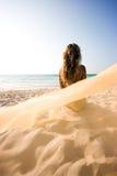 Mermaid on the beach Stock Photography