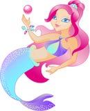 The mermaid is beautiful stock illustration